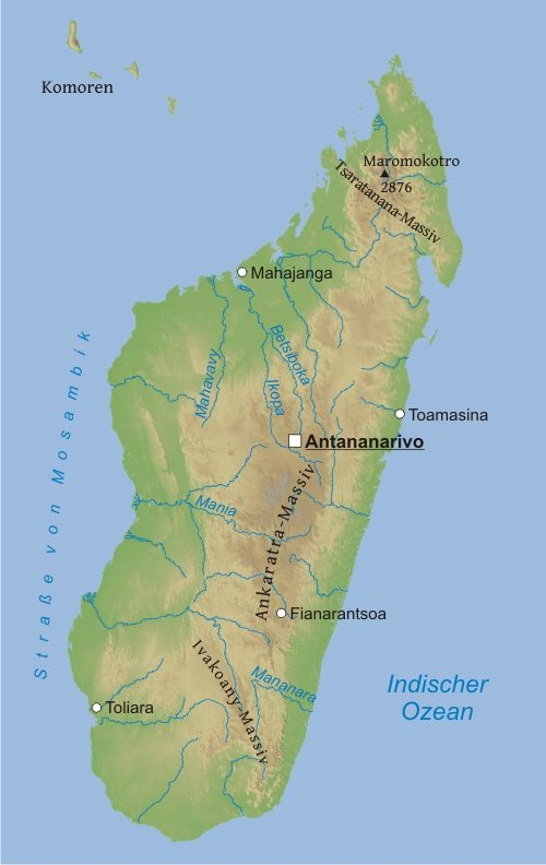Madagaskar Karte.Karte Von Madagaskar Freeworldmaps Net