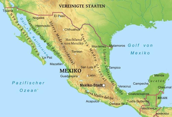 Karte Von Mexiko Freeworldmaps Net