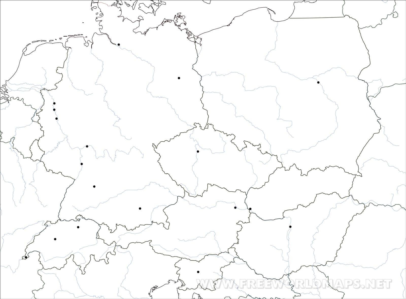 Mitteleuropa Karte Freeworldmaps Net