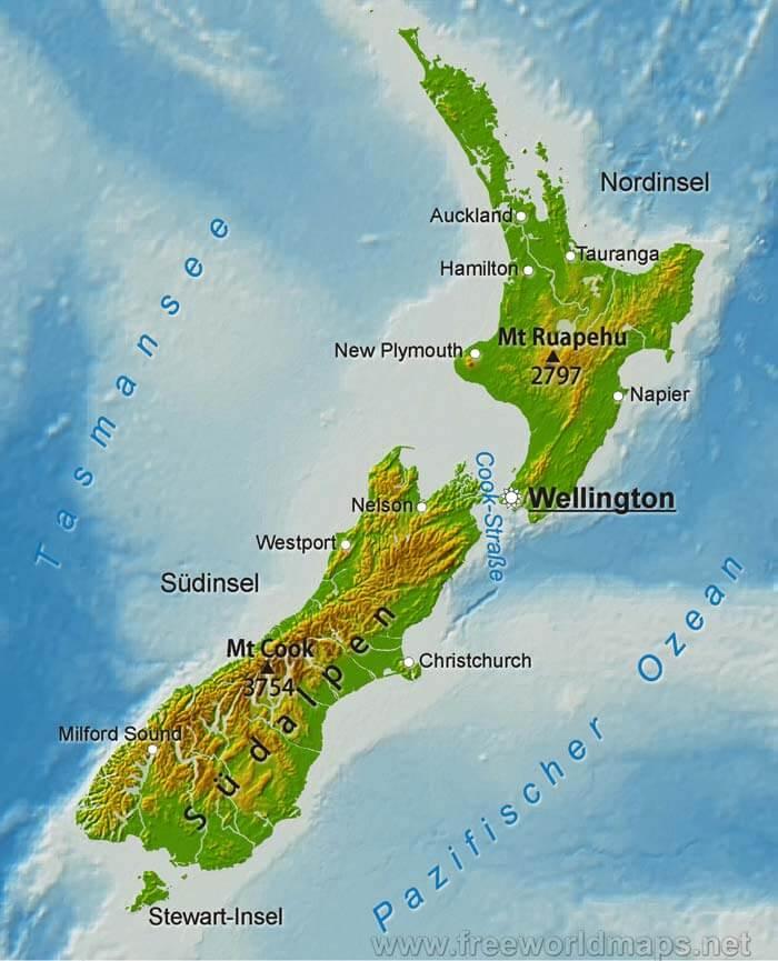 Bildergebnis für Karte von Neuseeland