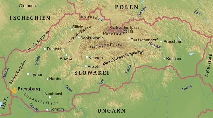 hohe tatra karte Landkarte Hohe Tatra | Deutschland Karte