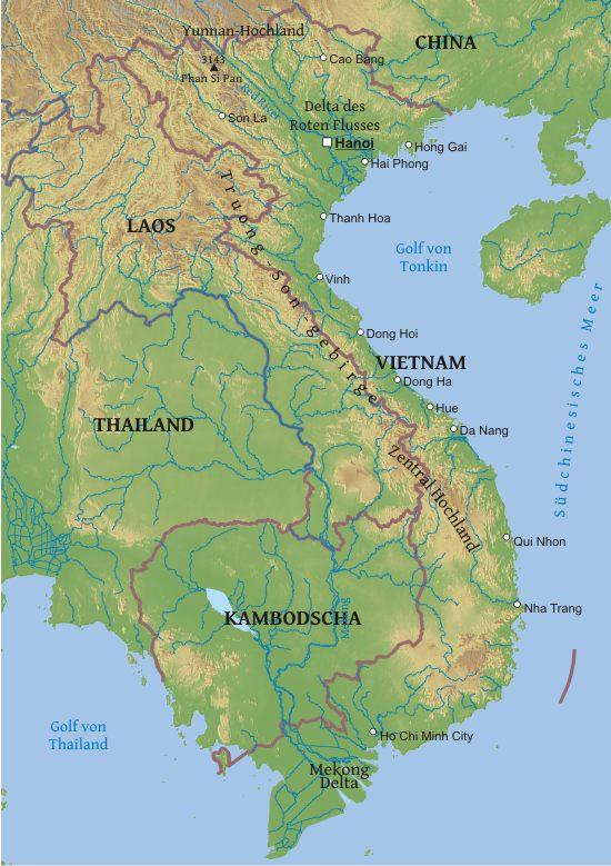 Karte Von Vietnam Freeworldmaps Net