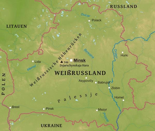 Karte Von Weissrussland Freeworldmaps Net