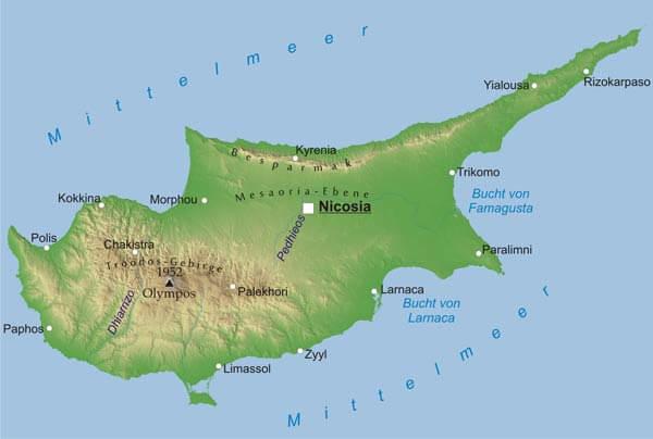 Karte Von Zypern Freeworldmaps Net