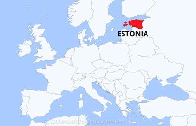 Mapa de estonia imprimir dnde est estonia gumiabroncs Gallery