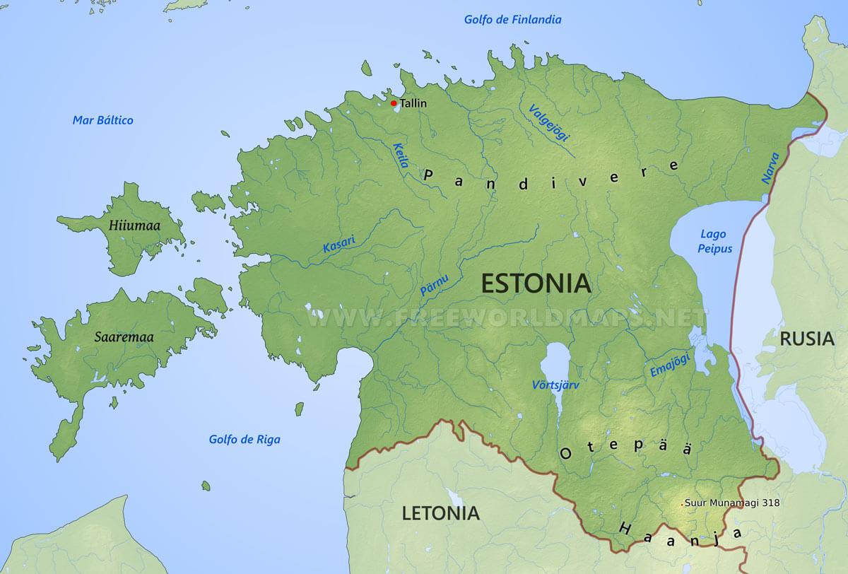 Mapa de estonia gumiabroncs Gallery