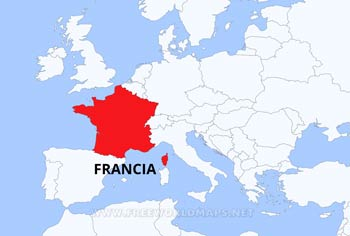 Mapa de francia for Donde se encuentra el marmol