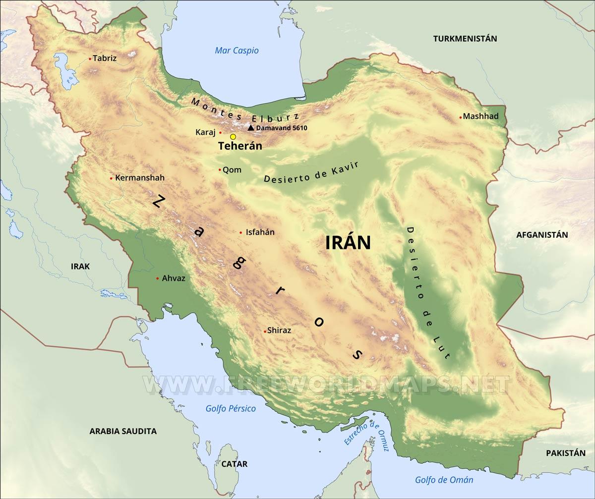 Resultado de imagen de Irán mapa