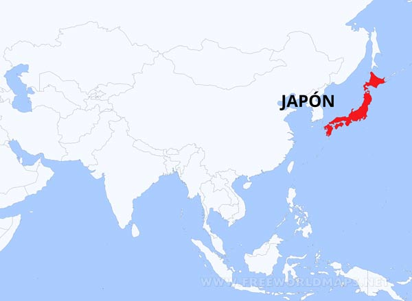 Mapa de jap n for Donde se encuentra el marmol