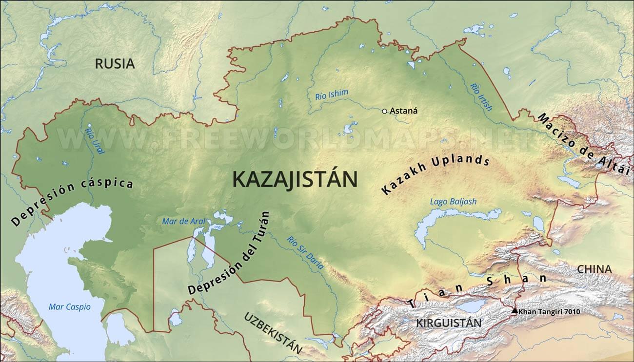 Mapa de kazajist n for De donde sacan el marmol