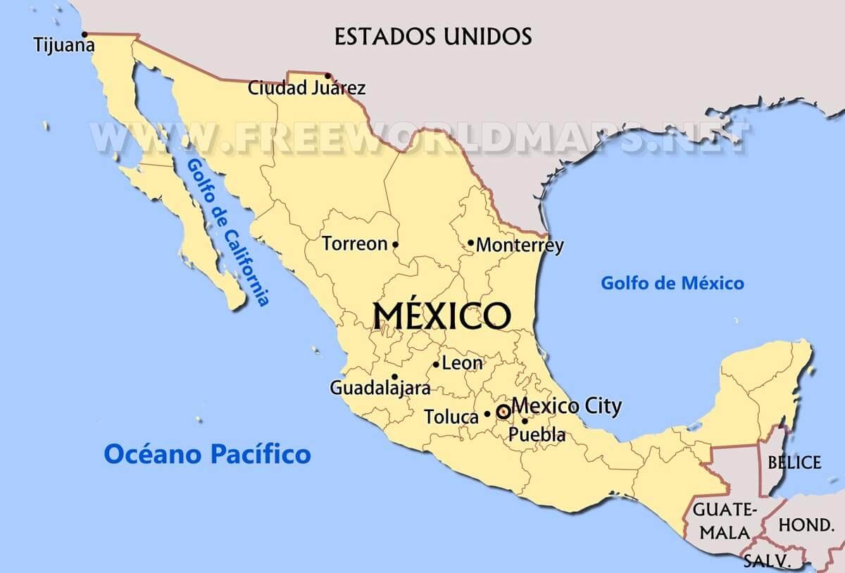 Mapas De México Freeworldmapsnet - Mapa de mexico