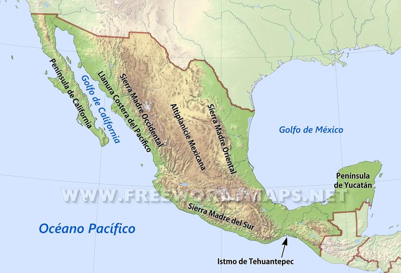 Mapas De Mexico Freeworldmaps Net