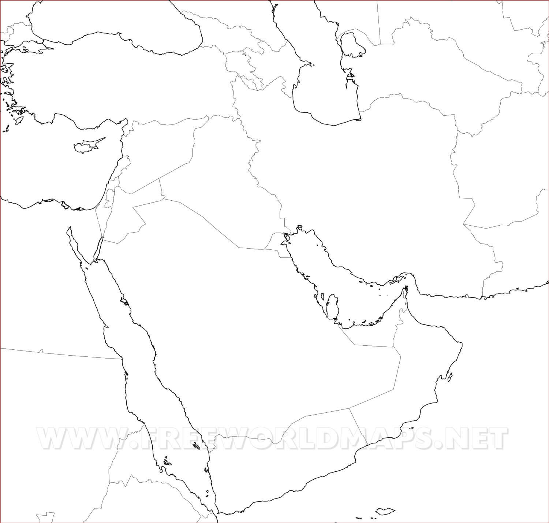 Mapa de Oriente Medio