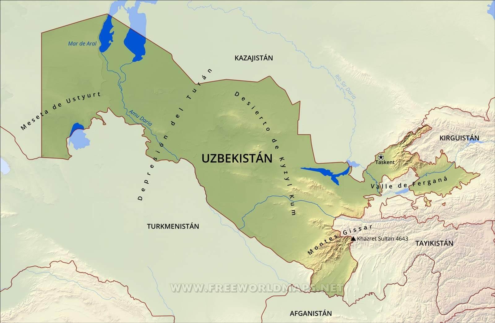 Mapa de uzbekistn gumiabroncs Images