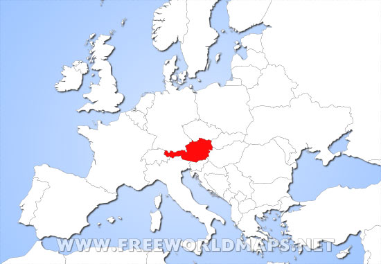 Where is austria located on the world map austria location map gumiabroncs Choice Image