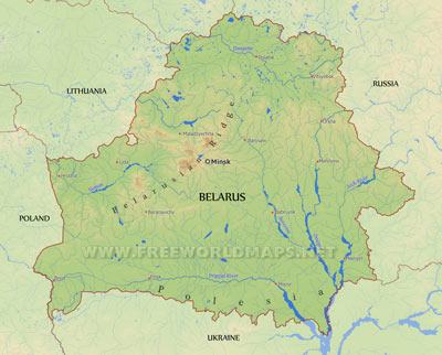 Belarus maps by freeworldmaps belarus physical map gumiabroncs Images