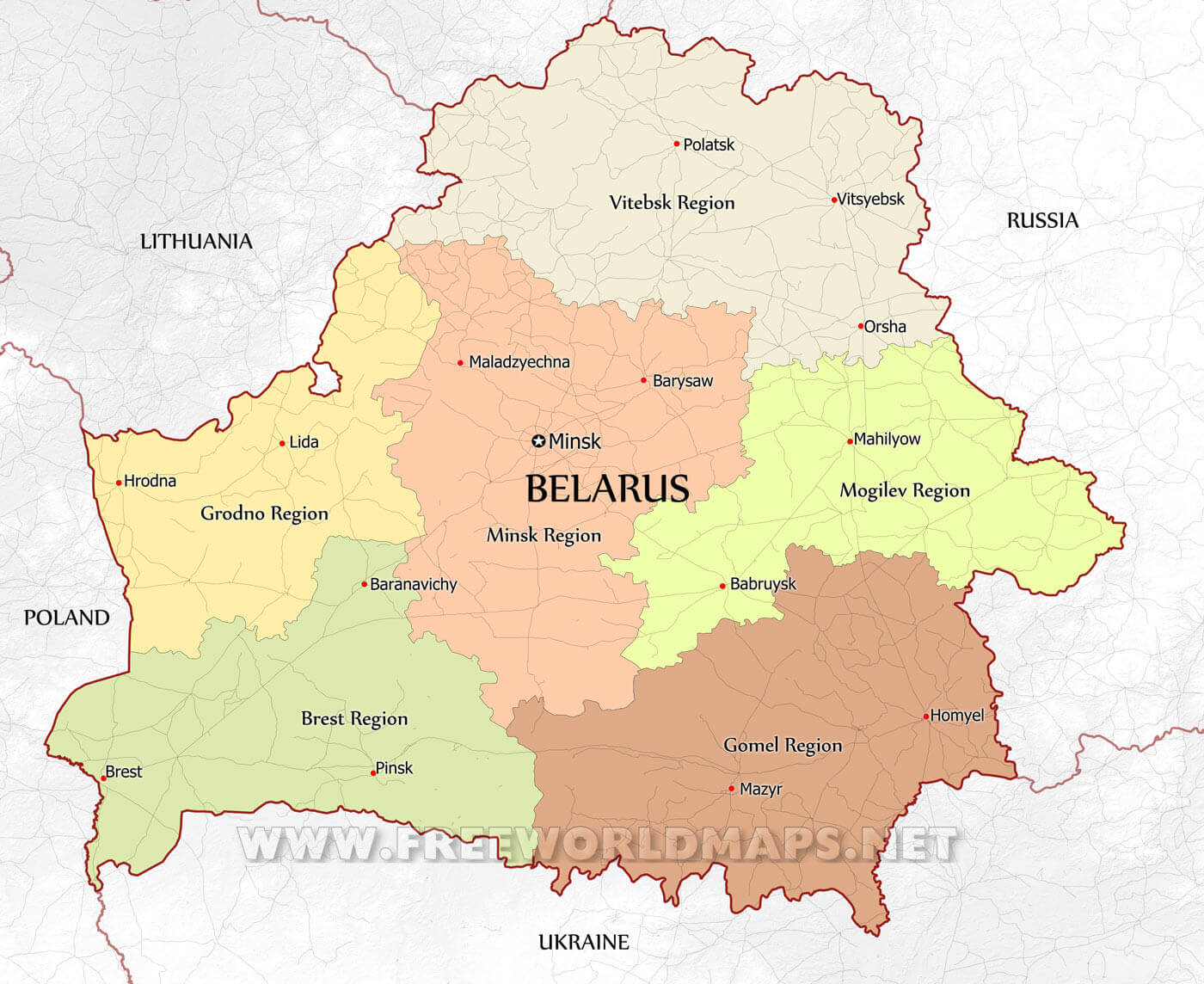 Belarus Maps By Freeworldmaps Net