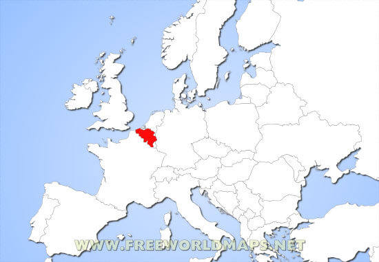 Where is Belgium located on the World map – Belgium in Europe Map