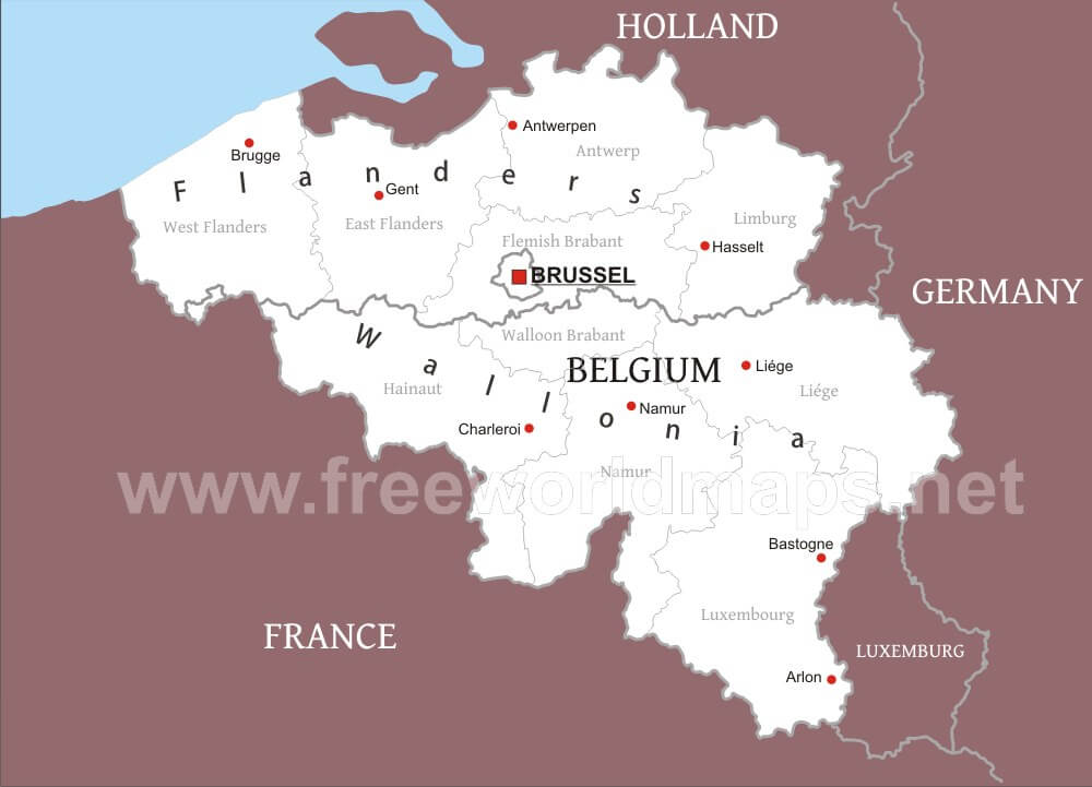 Belgium Political Map – Map of Belguim