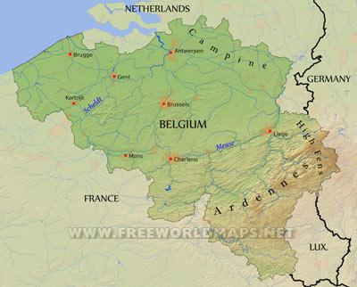 Map france belgium