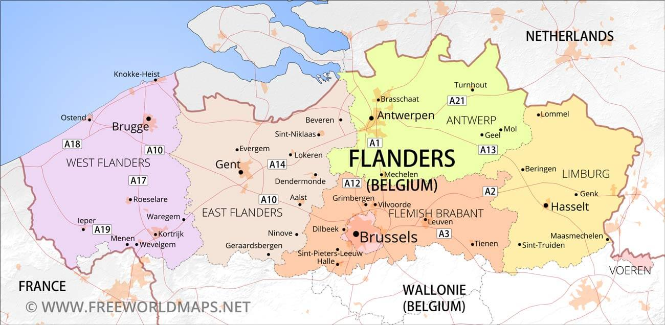 Flanders Physical Map