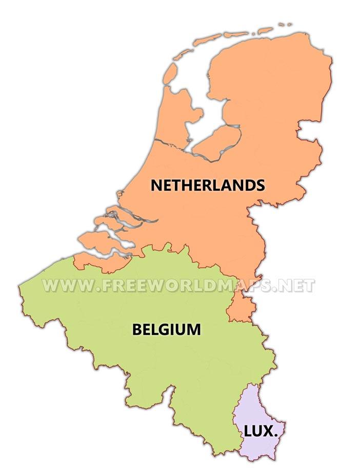 Benelux Maps – by Freeworldmaps.net