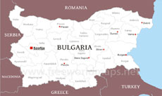 Bulgaria On Map Of World.Where Is Bulgaria Located On The World Map