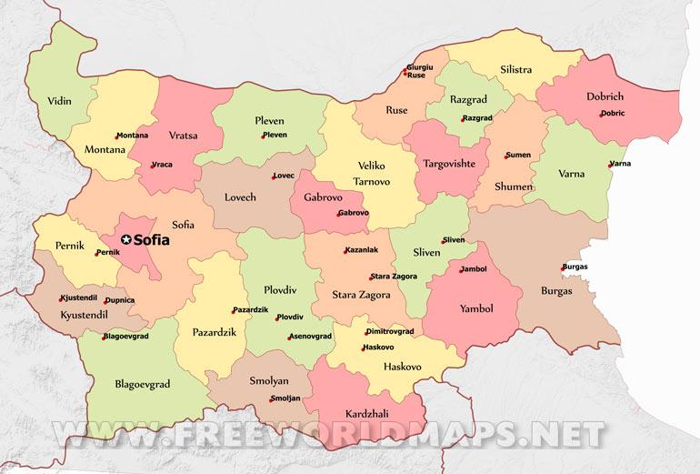 Bulgaria Maps by