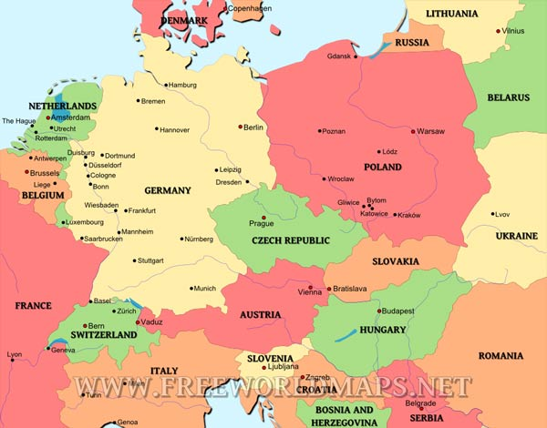 a geography of poland in central europe Poland's geography and the central lowlands is a flat region of river valleys that blends into a hillier geography of poland bodies of water of europe.