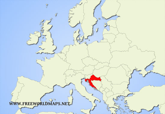 Where is croatia located on the world map location of croatia within europe gumiabroncs Images
