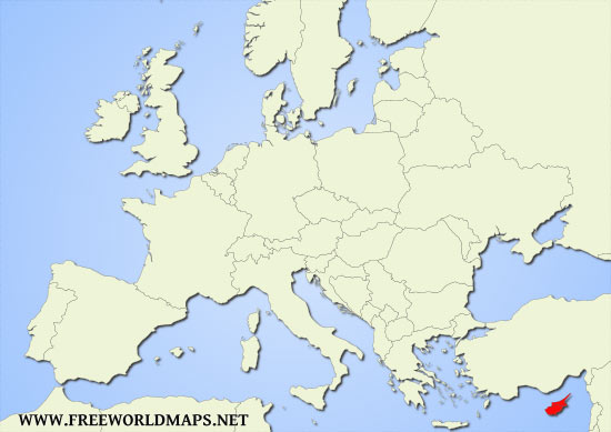 Where is Cyprus located on the World map