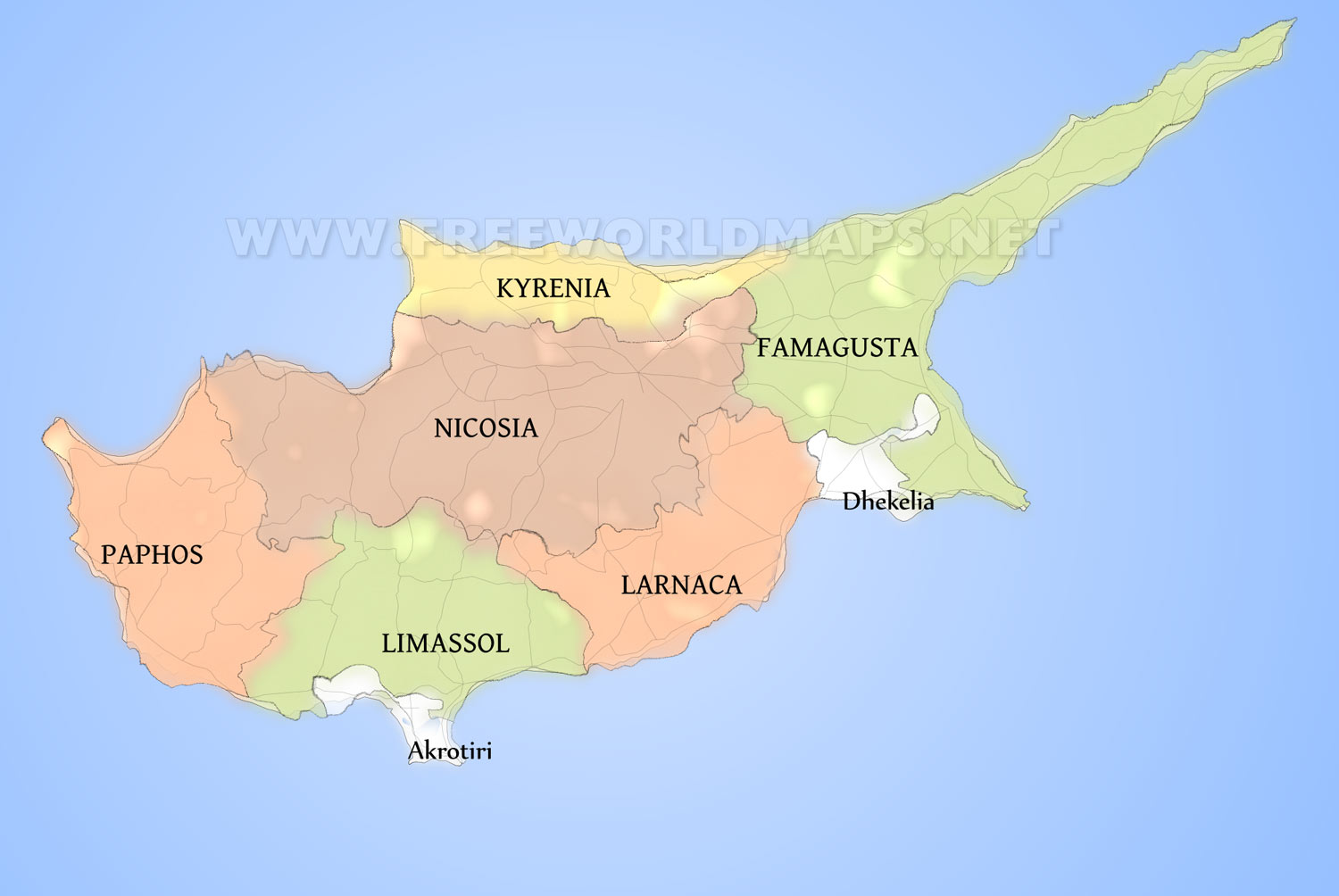 Cyprus Political Map