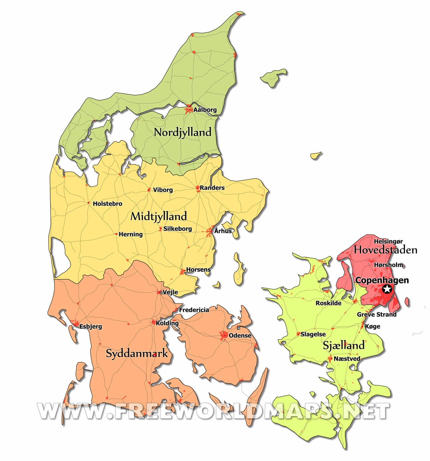 Denmark Maps by Freeworldmapsnet