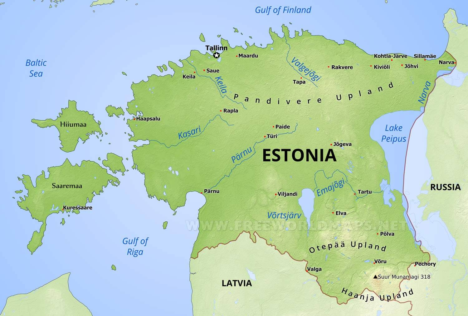 estonia on world map gallery