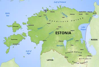 Estonia Maps by Freeworldmapsnet