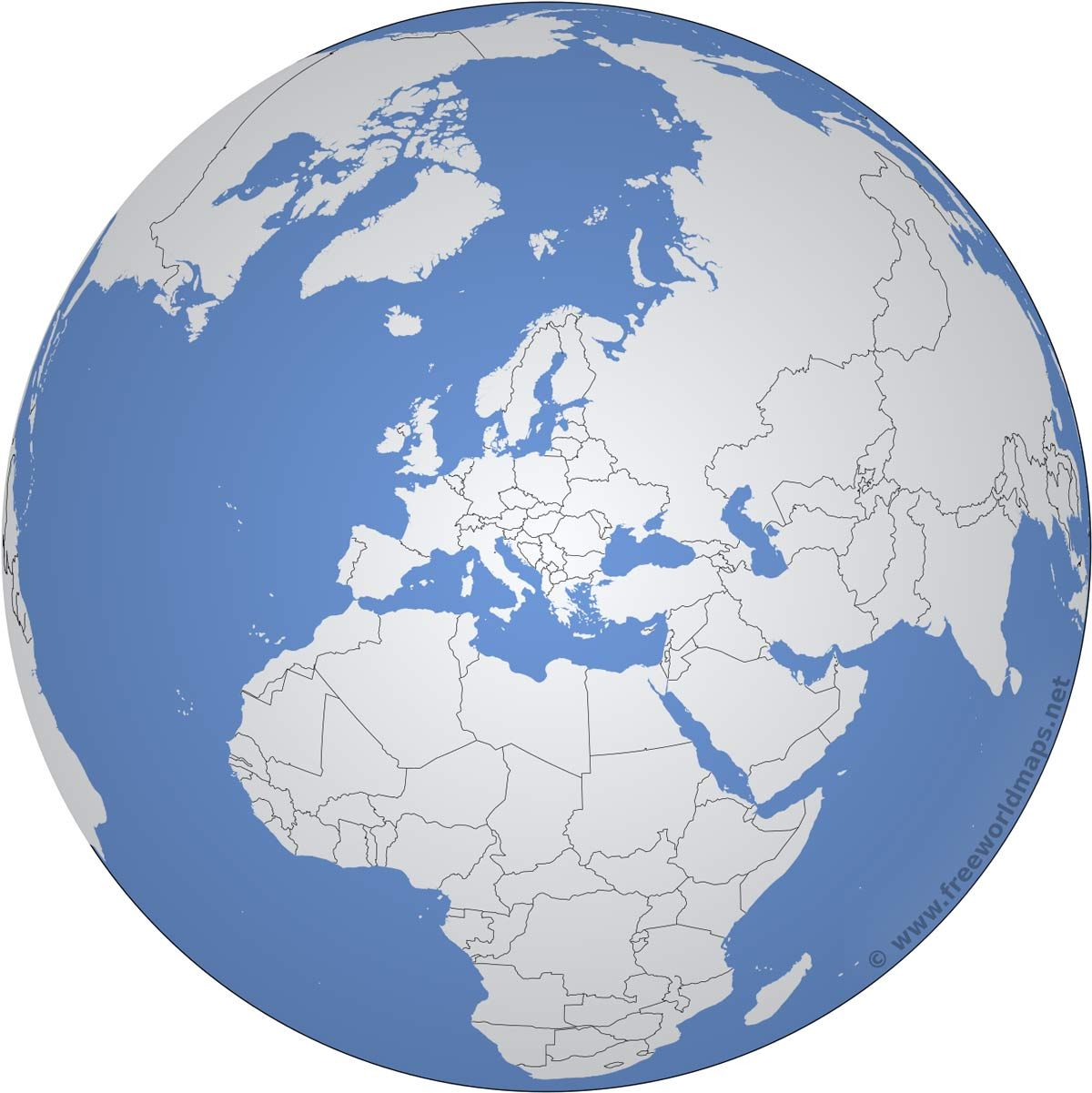 Europe Outline Maps By FreeWorldMapsnet - Map of the globe with countries