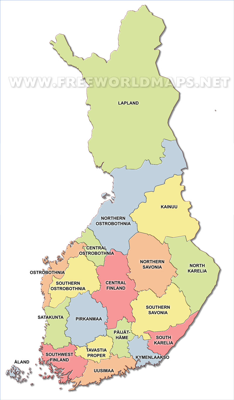 Finland political map finland regions finland regions map showing the administrative divisions gumiabroncs Choice Image