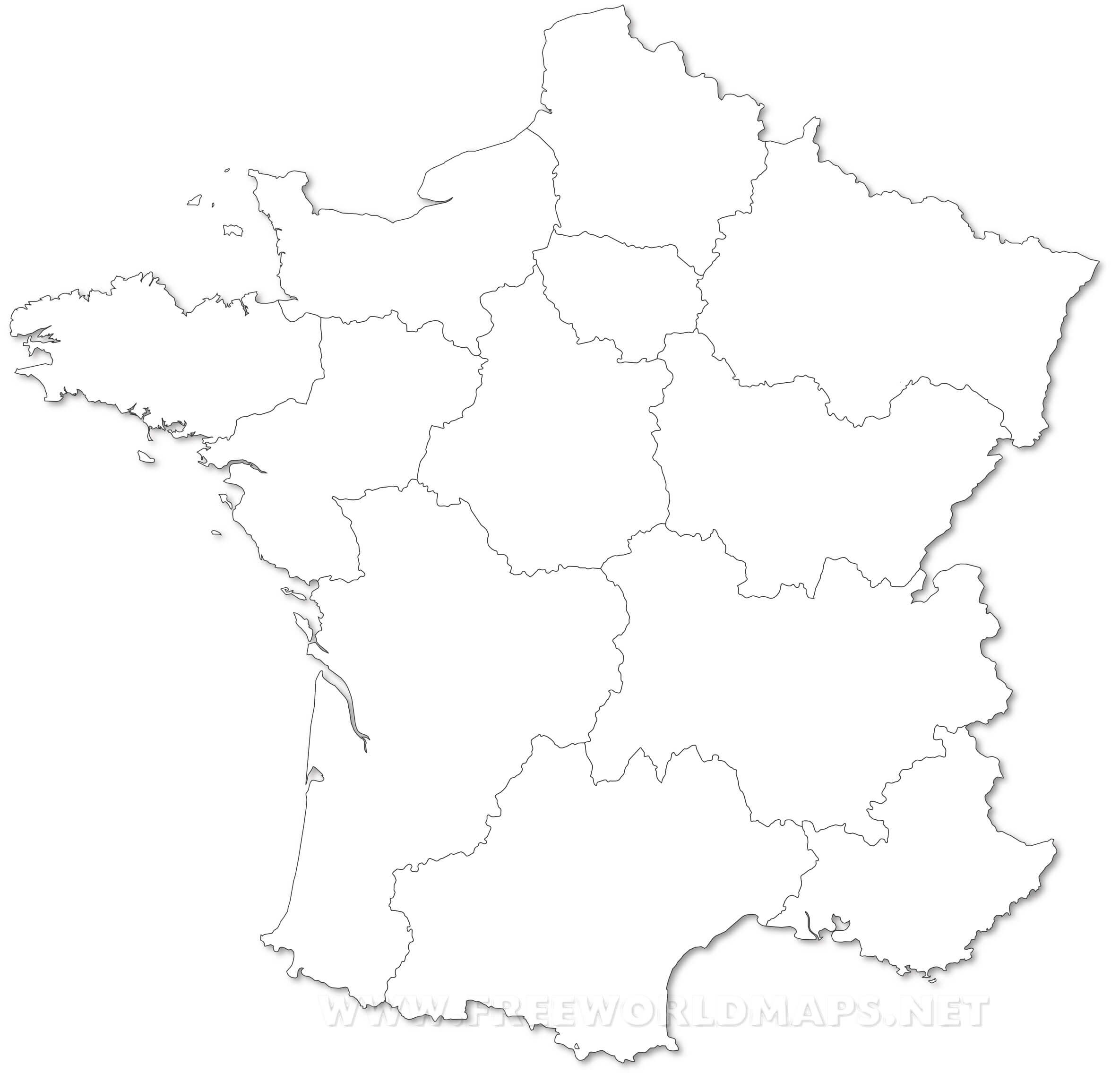 France Political Map - France map images blank