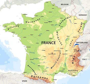 France Maps By Freeworldmapsnet - France geographical map