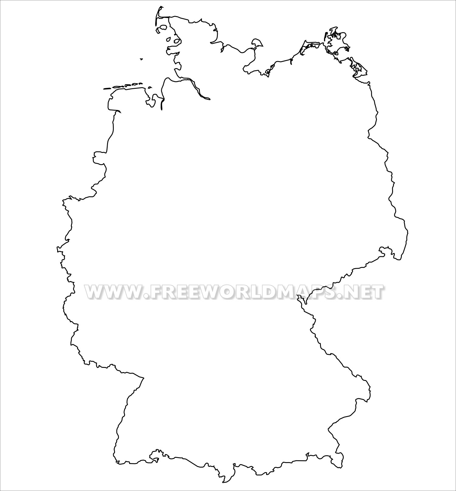 Outline Map Of Germany.Germany Political Map