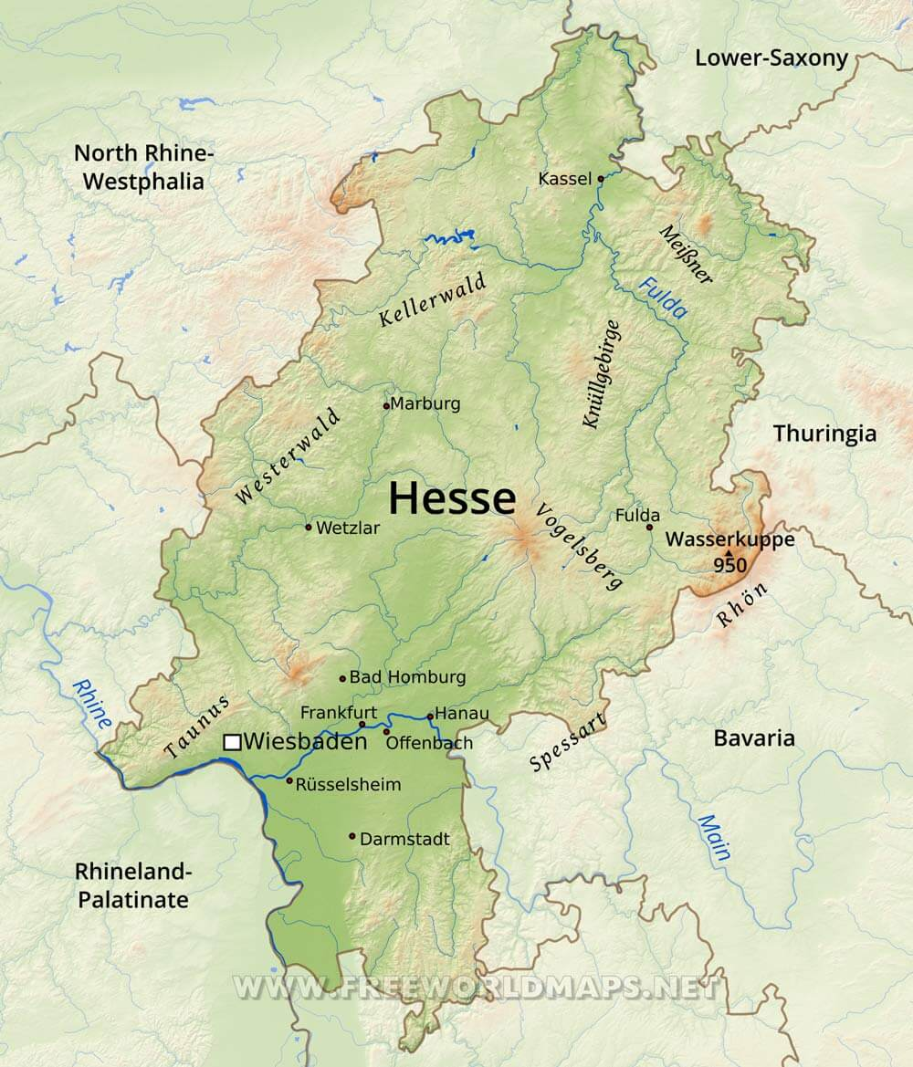 Hesse Physical Map