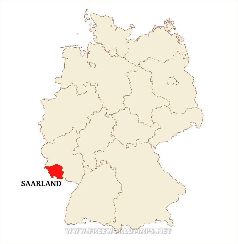 Saarland Physical Map