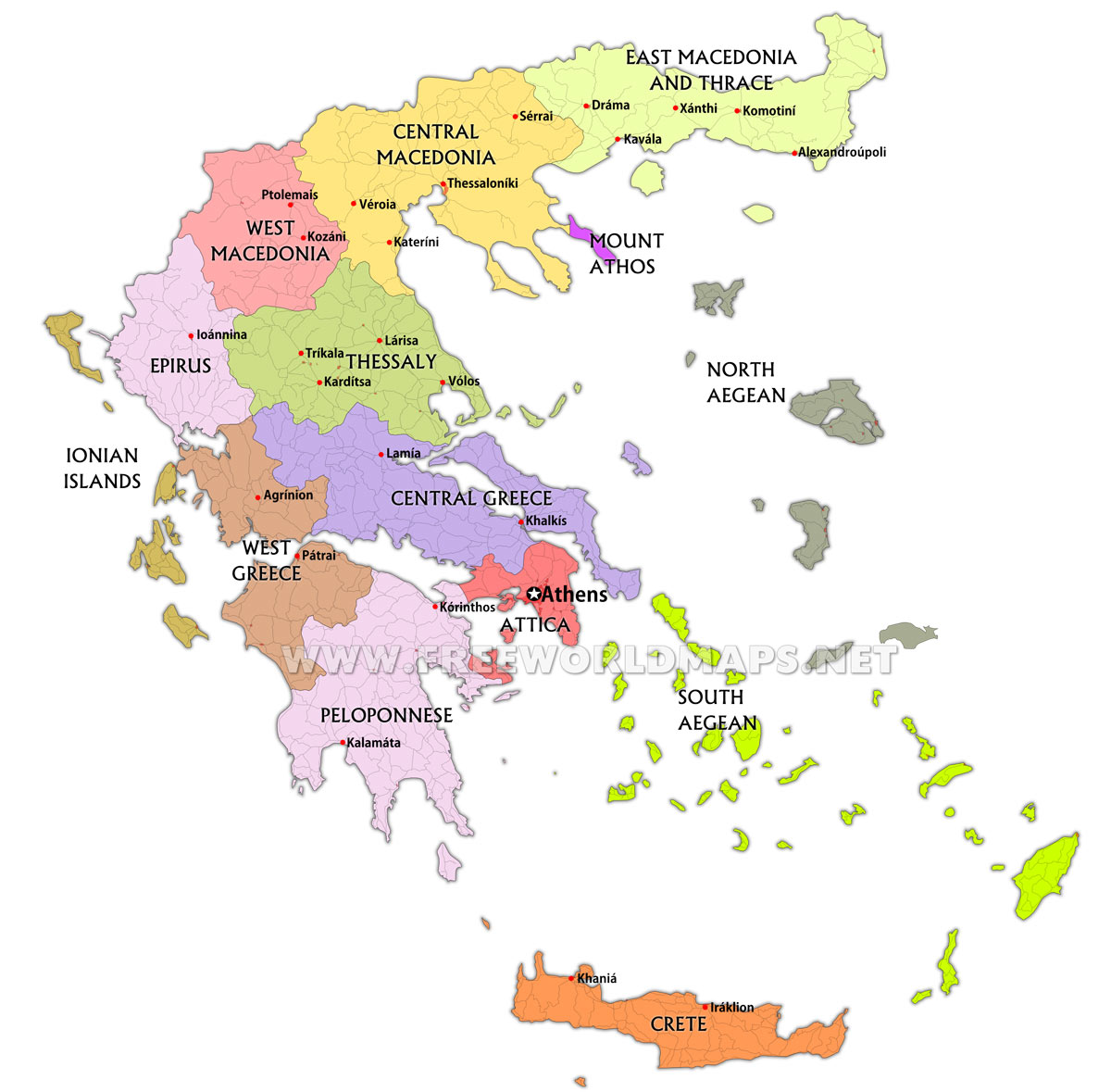 Greece Maps by Freeworldmapsnet