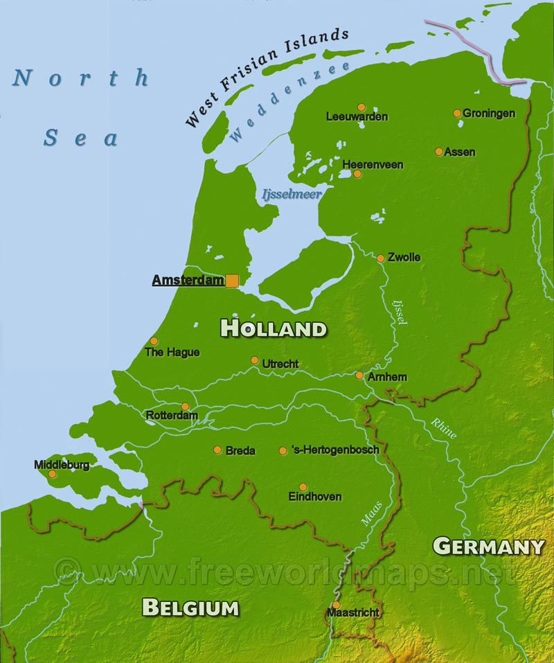 Holland Physical Map