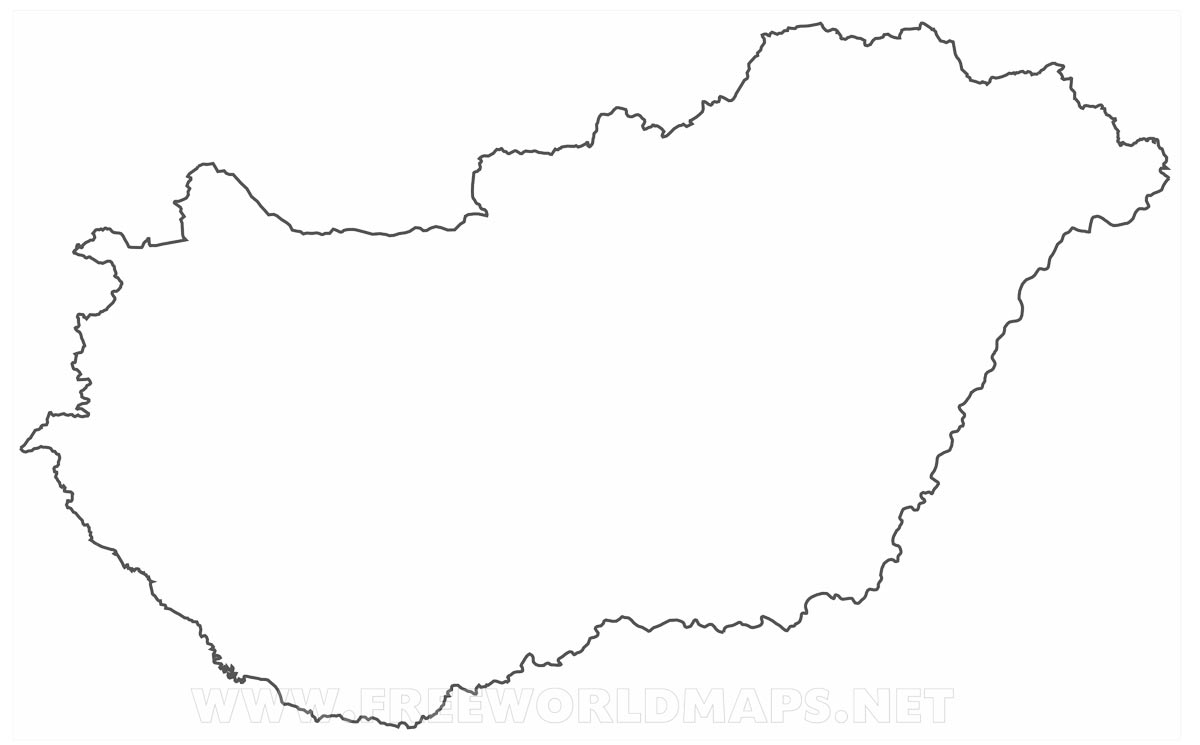 Hungary Political Map - Hungary blank map
