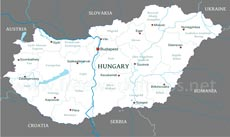 Where is hungary located on the world map physical map of hungary hungary political map gumiabroncs Images
