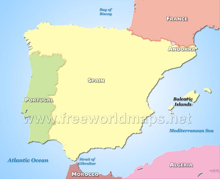 Peninsula In Europe Map.Iberian Peninsula Map