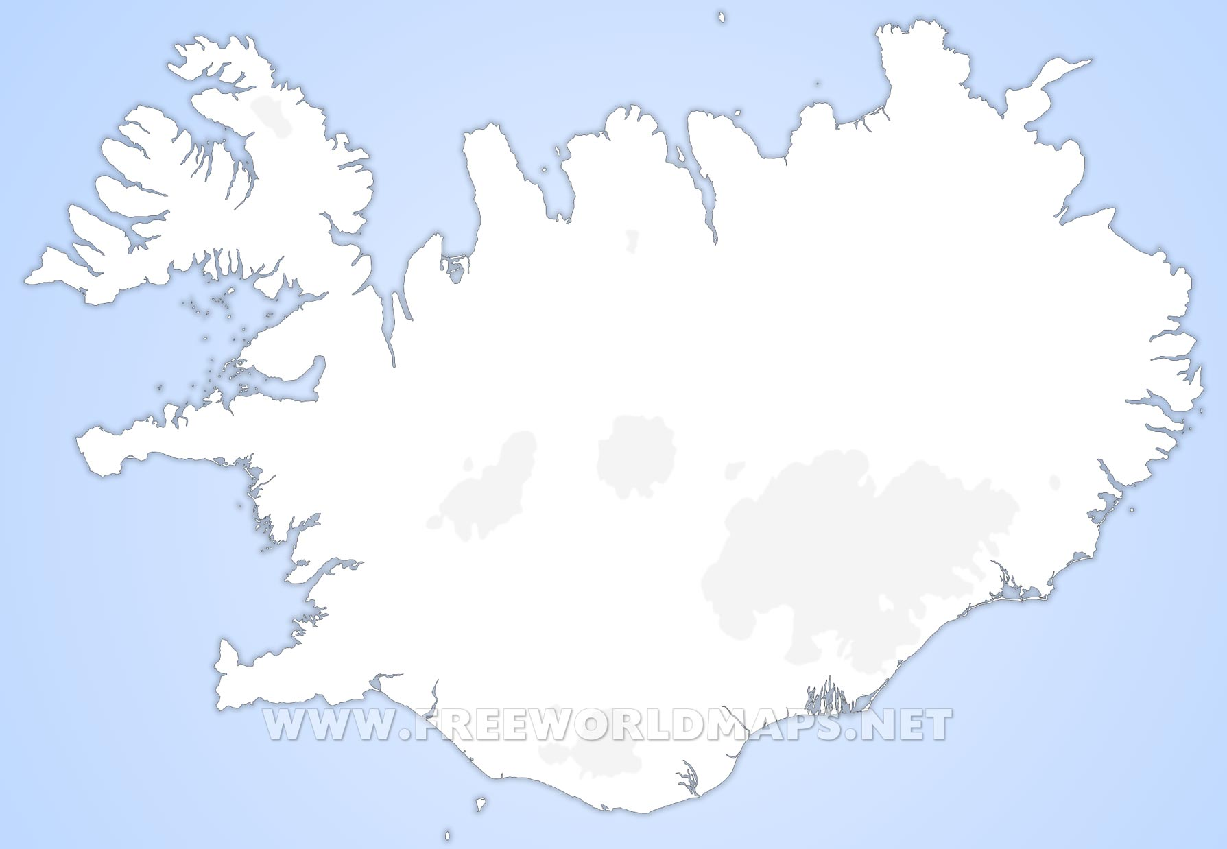 Iceland Political Map - Iceland map
