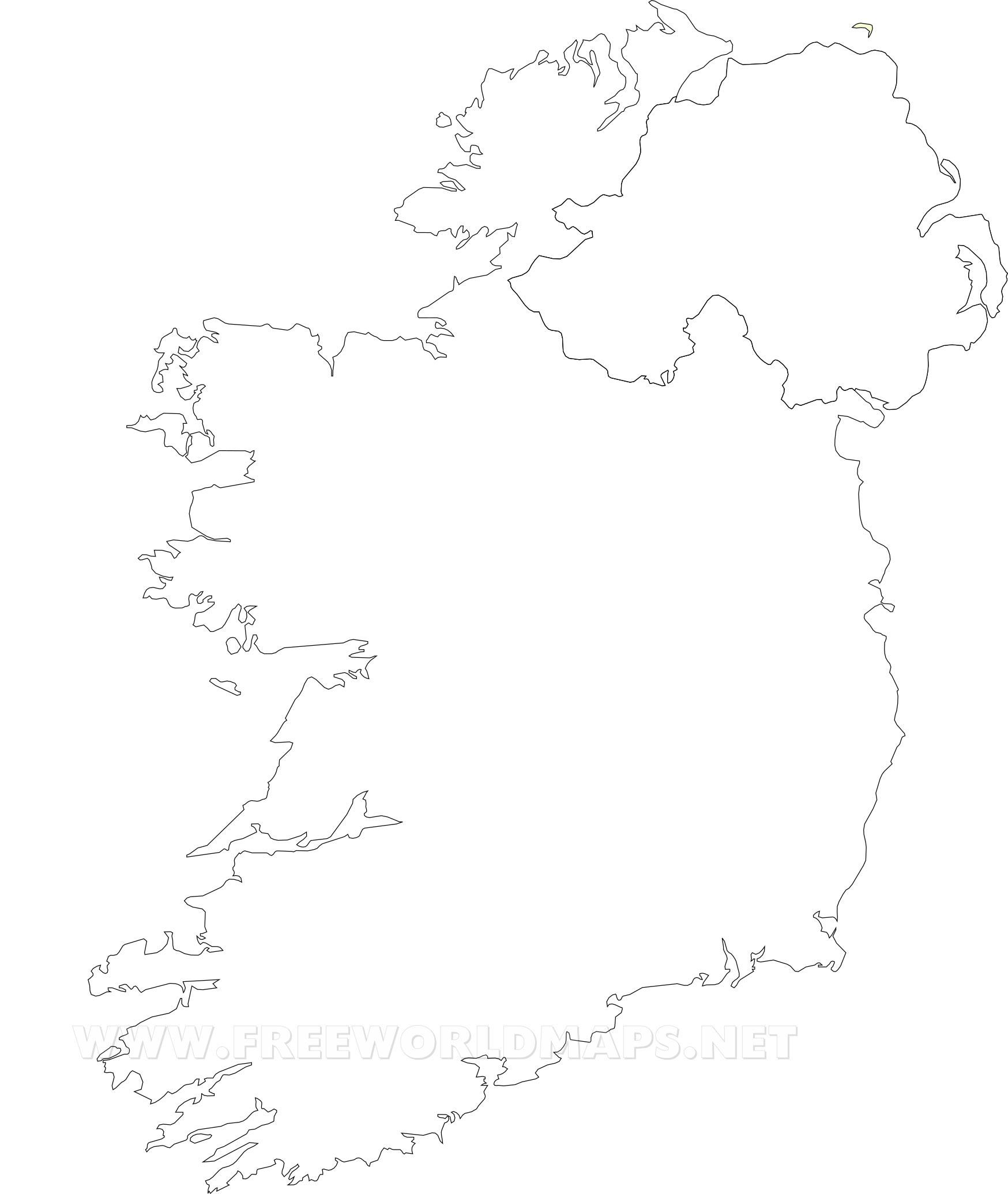 Outline Map Of Ireland.Ireland Political Map