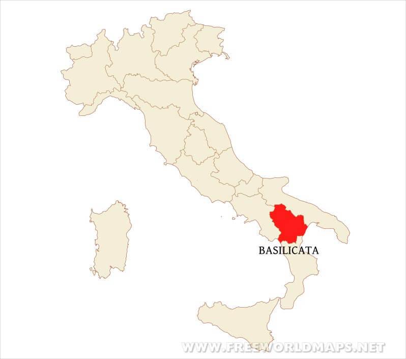 Basilicata Physical Map